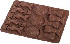Силиконовая форма для шоколада MYS Море Коричневая (MYS-48242)