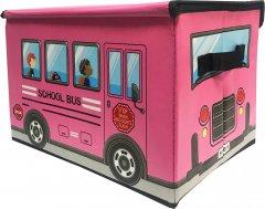Ящик для хранения игрушек и вещей Bpafree Автобус Розовый (2000992401227)