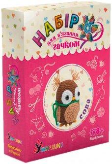 Набор для творчества Умняшка Вязание крючком. Сова (4820129201081) (ВК-002)