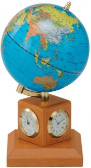 Глобус Bestar Blue на деревянной подставке с метеостанцией Светлая вишня (0966HJY-B)