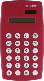Калькулятор электронный KLERK 8-разрядный Красный (Я17899_KD-801_красный)