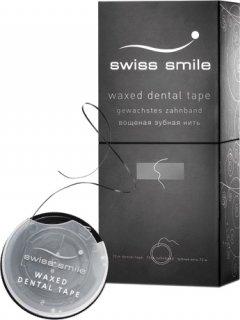 Зубная лента вощеная со вкусом мяты Swiss Smile Basel Базель цвет черный 70 м (900-990) (7640131979924/7640131979917)