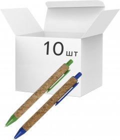 Упаковка автоматических шариковых ручек KLERK 0.5 мм Синих 10 шт Разноцветный корпус (Я44696_KL0135_10)