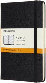 Записная книга Moleskine Classic 11,5 х 18 см 192 страницы в линейку Чёрная (8055002852944)
