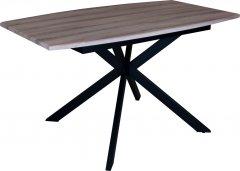 Стол обеденный Eagle Solere 75 х 85 x 140 - 180 см Black/Beige (E3629)