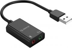 Звуковая карта Orico USB Sound Card Adapter SKT2-BK Black (CA911455)