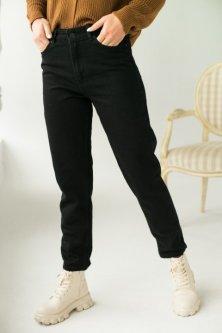 Класичні мом джинси Lurex чорний (L)