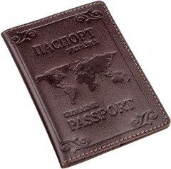 Обложка на паспорт Shvigel 13983 Коричневая