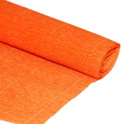 Гофрированная бумага Interdruk Premium рулонная 160 г/м2 200x50 см Ярко-оранжевая (238474)