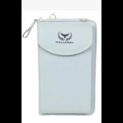 Сумка - портмоне - клатч 3в1 Wallerry голубой (0574)