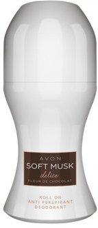 Дезодорант-антиперспирант Avon Soft Musk Delice с шариковым аппликатором 50 мл (08531)(ROZ6400101560)