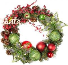 """Рождественский венок Новогодько (YES! Fun) с декором """"Счастливое Рождество"""" d-35 см (904393)"""