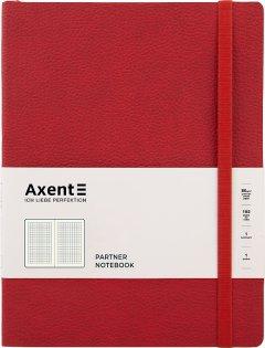 Записная книга Axent Partner Soft L 190х250 мм в гибкой обложке 96 листов в клетку Красная (8615-06-a)