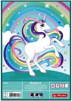 Альбом для рисования Herlitz Unicorn Единорог A3 30 листов (471300U)