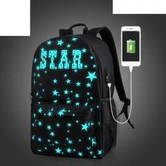 Городской рюкзак Senkey & Style Star с USB светящийся в темноте