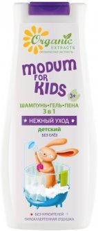 Шампунь-гель-пена Modum For Kids 3 в 1 Нежный уход Детский 400 мл (4811230019344)