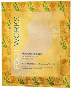 Увлажняющая маска-носки для ног Avon Ананас и чайное дерево 20 мл (1338659)(ROZ6400102418)
