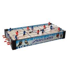 Настільний хокей Tilly 2222A дерев'яний на штангах Білий/Блакитний/Червоний