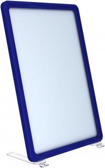 Рамка с карманом-протектором Европос А5 на подставке 75 градусов 2/BASE-75+PFPP-А5, Синий (P1004/28)