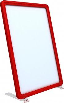 Рамка с карманом-протектором Европос А4 на подставке 75 градусов 2/BASE-75+PFPP-A5, Красный (P1002/06)