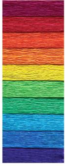 Набор креповой, гофрированной бумаги INTERDRUK MIX SPEKTRUM из 10 цветов 200х50 см (990664)