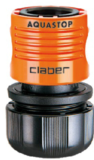 """Коннектор для поливочного шланга Claber 3/4"""" аквастоп (86050000)"""