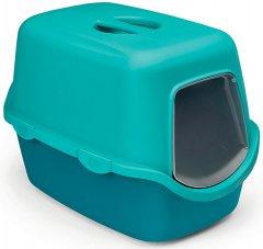 Туалет для кошек Stefanplast Cathy 56 x 40 x 40 см Бирюзовый/голубой (8003507986503)