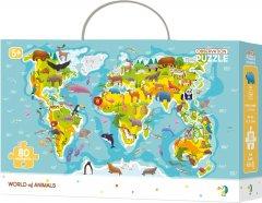 Пазл DoDo Карта Мира - Зверушки 80 элементов (300133) (4820198240301)