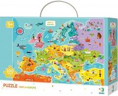 Пазл DoDo Карта Европы на английском языке 100 элементов (300124) (4820198240257)