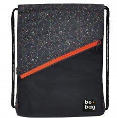 """Сумка для обуви Herlitz Be.Bag Be.Daily Flower Wall Черная """"Цветы"""" (24800310)"""