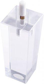 Ножка мебельная DC акриловая квадратная 50х50 мм Белая (DC110521)