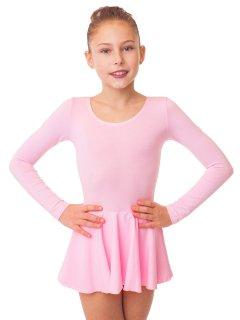 Купальник з спідницею для танців і гімнастики Motus KKU-002-RS (140-146) рожевий