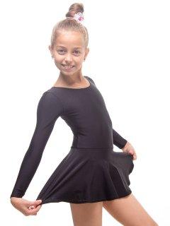 Купальник з спідницею для танців і гімнастики Motus KKU-001-B S (116-128см) чорний