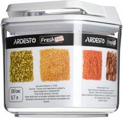 Контейнер для сыпучих продуктов Ardesto Fresh вакуумный 0.7 л Белый (AR1307WP)