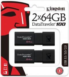 Kingston DataTraveler 100 G3 2x64GB USB 3.0 (DT100G3/64GB-2P)