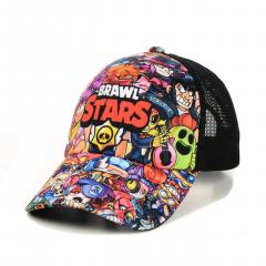 Бейсболка Brawl Stars (Бравл Старс) все герои One Size Разноцветная с Черным