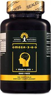 Жирные кислоты Apnas Natural Омега 3-6-9 1005 мг 100 капсул (603051082188)