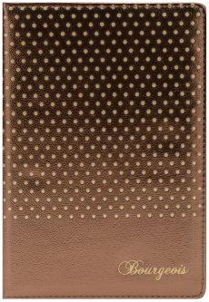 Блокнот Bourgeois N9000 70 г/м² Искусственная кожа + Перфорация А5 80 листов в клетку Коричневый (6923749726571)