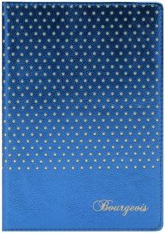 Блокнот Bourgeois N9002 70 г/м² Искусственная кожа + Перфорация А5 80 листов в клетку Голубой (6923749726595)