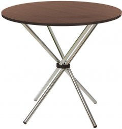 Обеденный стол Новый Стиль AQUA ordf CHROME (18) D900*790 ОРЕХ ТИЕП