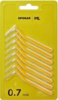 Межзубные ершики Spokar L 0.7 мм Угловые 8 шт (8593534341609)