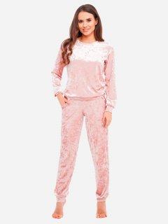 Пижама Martelle Lingerie M-309 велюр 42 (XL) Розовая пудра (MAR309020V)