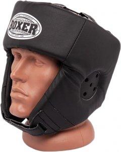 Боксерский шлем Boxer L 0.8-1 мм кожа Черный (2027-01BLK)