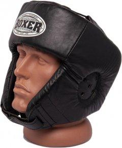 Боксерский шлем Boxer L 0.6 мм кожвинил Черный (2028-01BLK)