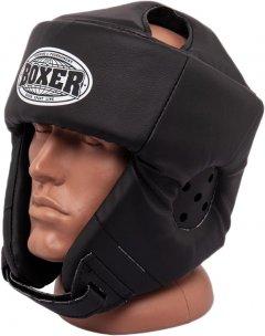 Шлем каратэ Boxer L 0.6 мм кожвинил Черный (2030-01BLK)