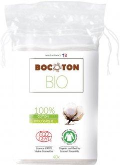 Ватные диски Bocoton Bio органические квадратные 40 шт (3265660392002)