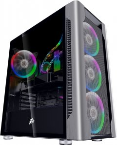 Корпус 1stPlayer DX-4R1-PLUS-BK Color LED Black