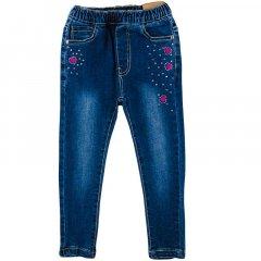 Джинсы эластичные для девочки GRACЕ G85769 98 см темно-синий джинс (465250)