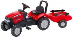 Детский трактор на педалях с прицепом Falk 961B CASE IH Красный (961B)