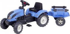 Детский трактор на педалях с прицепом Falk 2050C Landini Синий (2050C)